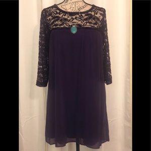 A.U.W Secret Charm Dress Purple M